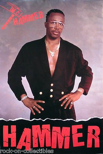MC Hammer 1989 Let's Get It Started Original Promo Poster Link to store: http://stores.ebay.com/Rock-On-Collectibles/Rap-Hip-Hop-Posters-/_i.html?_fsub=10102107&_sid=70220124&_trksid=p4634.c0.m322