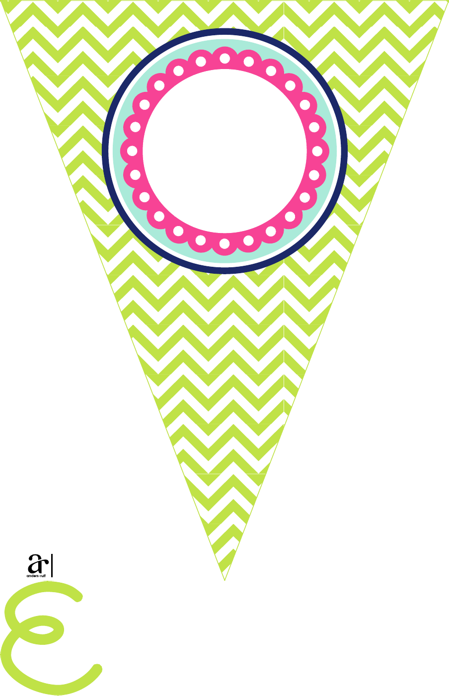 Free Printable Celebrate Pennant Banner  Party Ideas