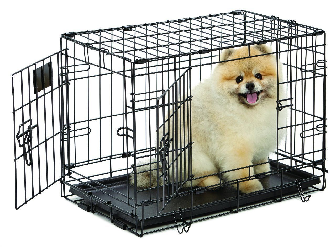 Folding Dog Cage With Divider With Images Dog Crate Dog Cages