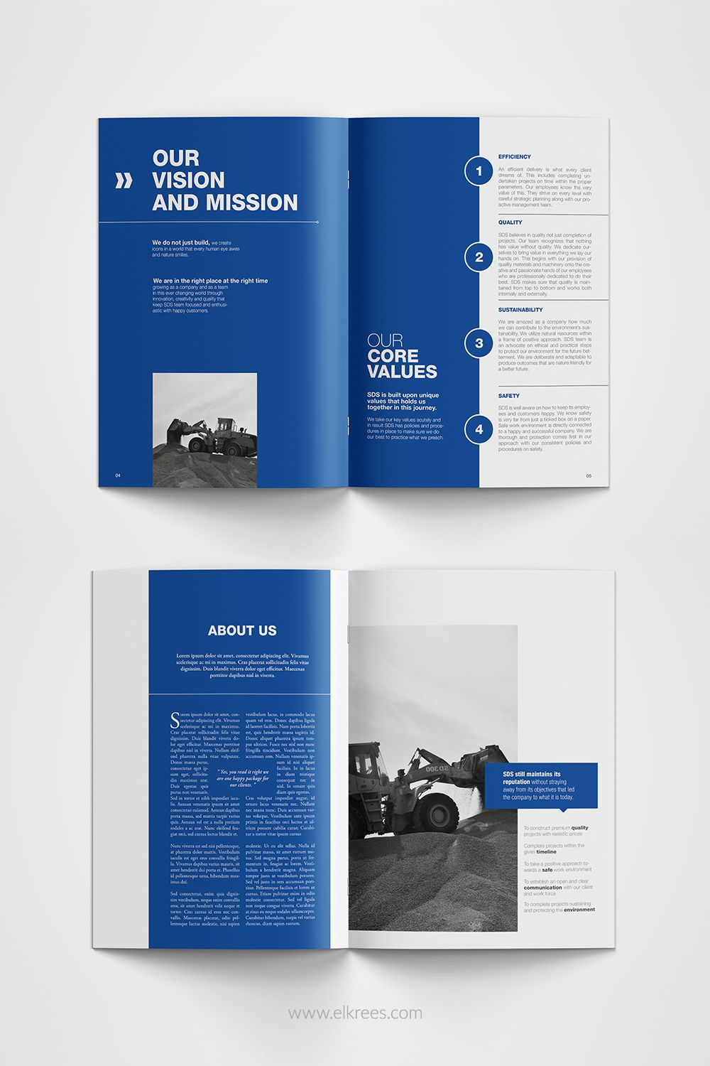 Modern Business Profile Design Layout For A Construction Company In 2020 Company Brochure Design Brochure Design Layouts Booklet Design Layout
