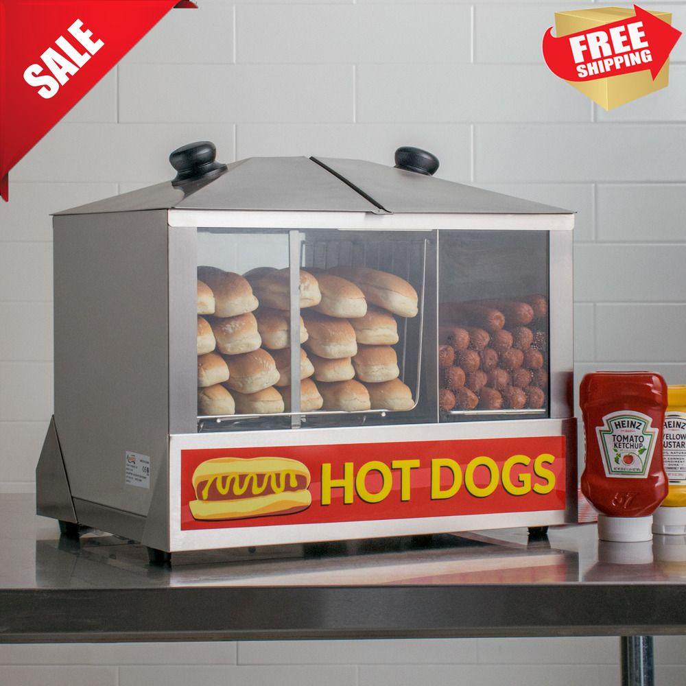 Commercial hot dog steamer warmer cooker machine bun food
