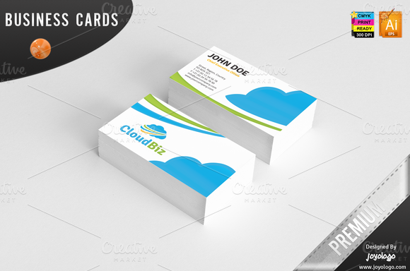 it cloud service business cards templates f png  580    384    IT     it cloud service business cards templates f png