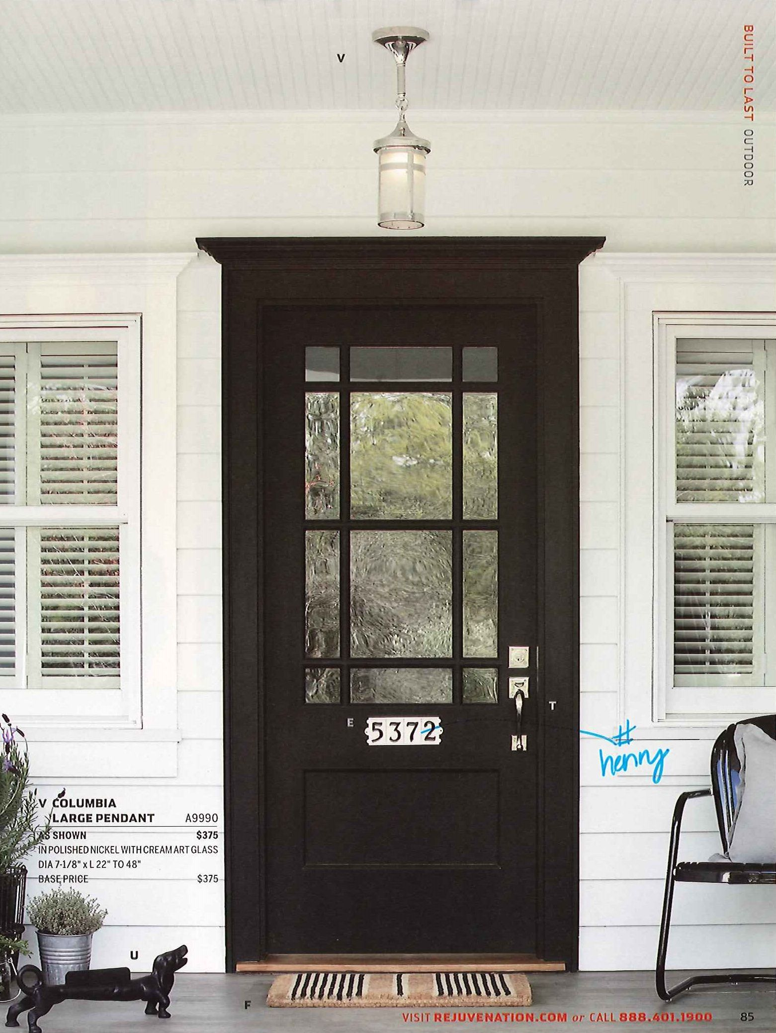 Black Front Door White House Pendant Porch Light Welcome Mat Brick Exterior House Front Door Paint Colors Best Front Doors
