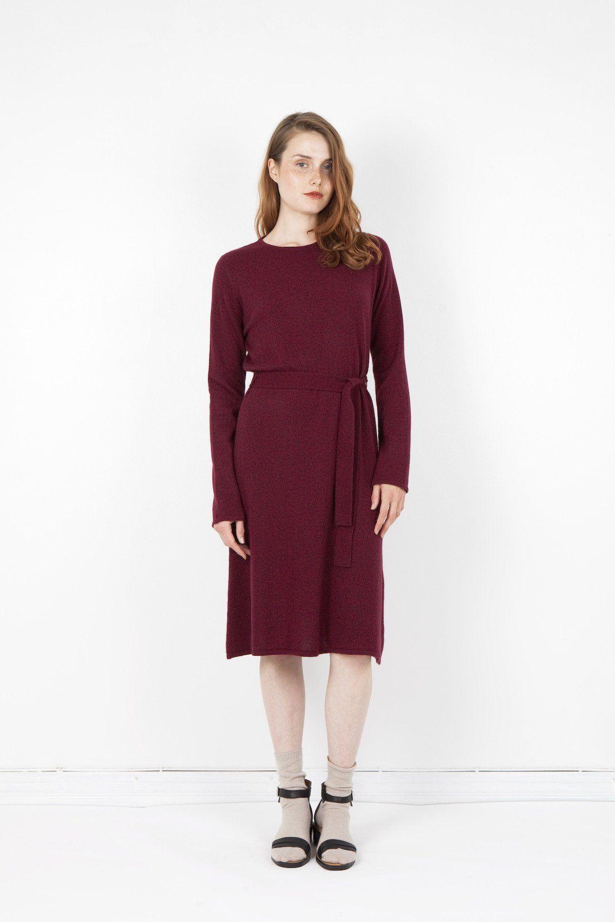 Tovia dress in dark red womenus ethical fashion clothing
