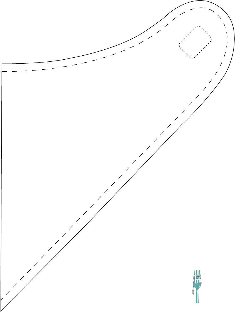 molde para babador bandana - Pesquisa Google | Bandanas | Pinterest ...