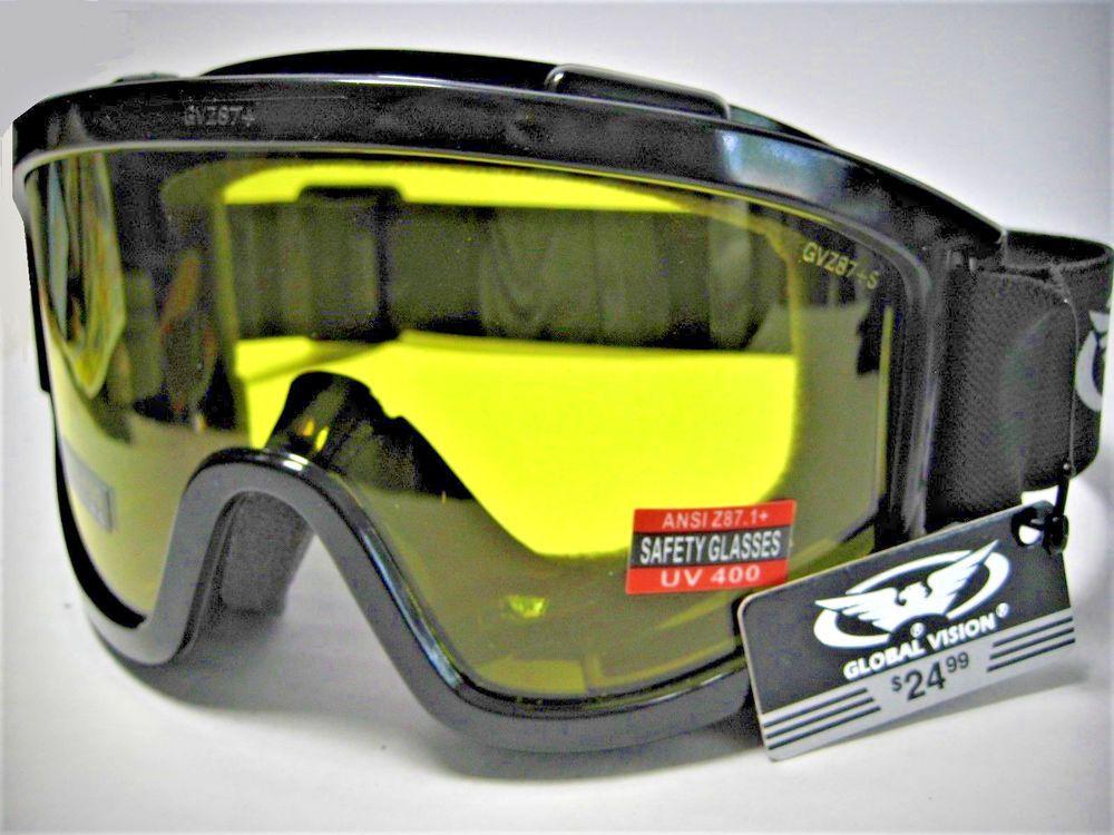 Global Vision ® Z87+ Safety Goggles AntiGlare AntiFog
