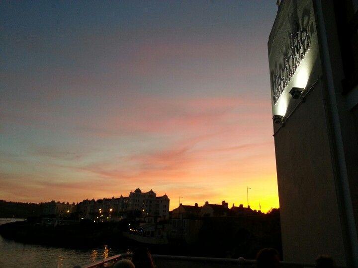Maritimo tapas Plymouth sunset