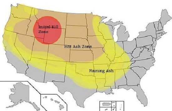BREAKING: Experts Discuss Warning Signs Of Eruption At Yellowstone on rainier destruction map, yosemite caldera map, everglades destruction map, yellowstone destruction radius, yellowstone destruction zone, yellowstone super volcano effects, yellowstone fallout projections super volcano,