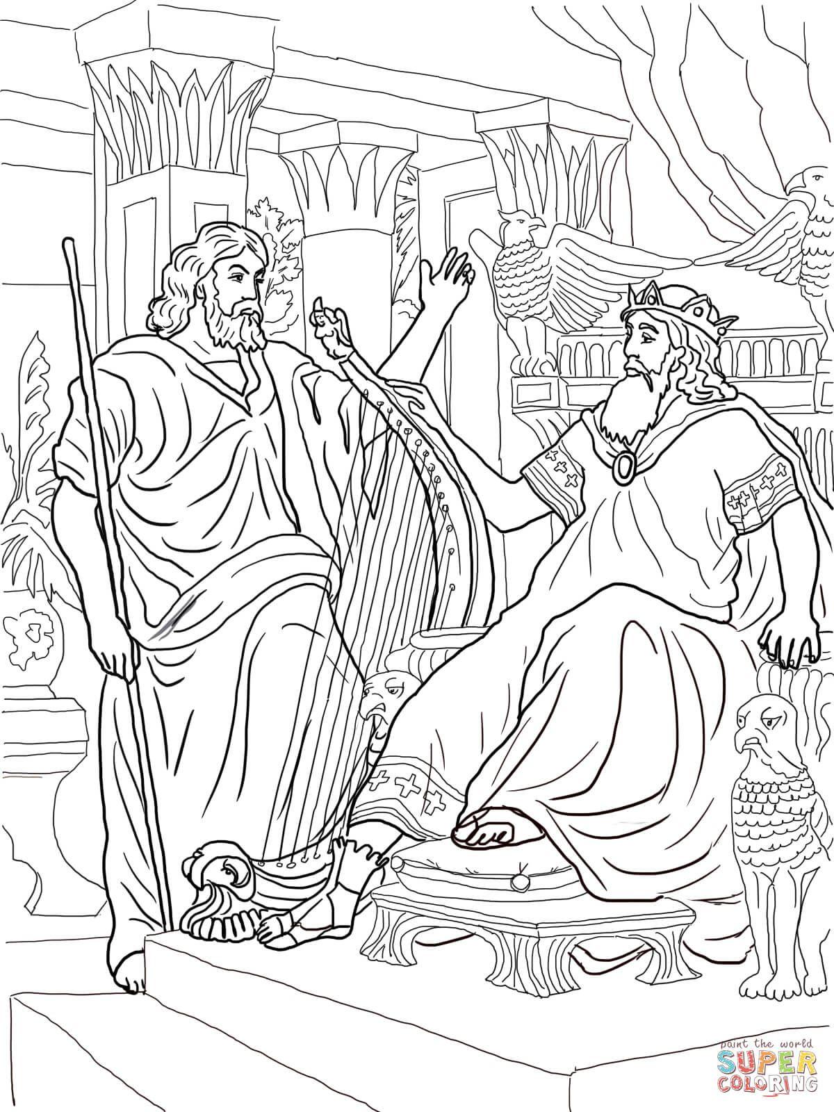 David And Nathan Coloring Page Raskraski David Voskresnaya Shkola