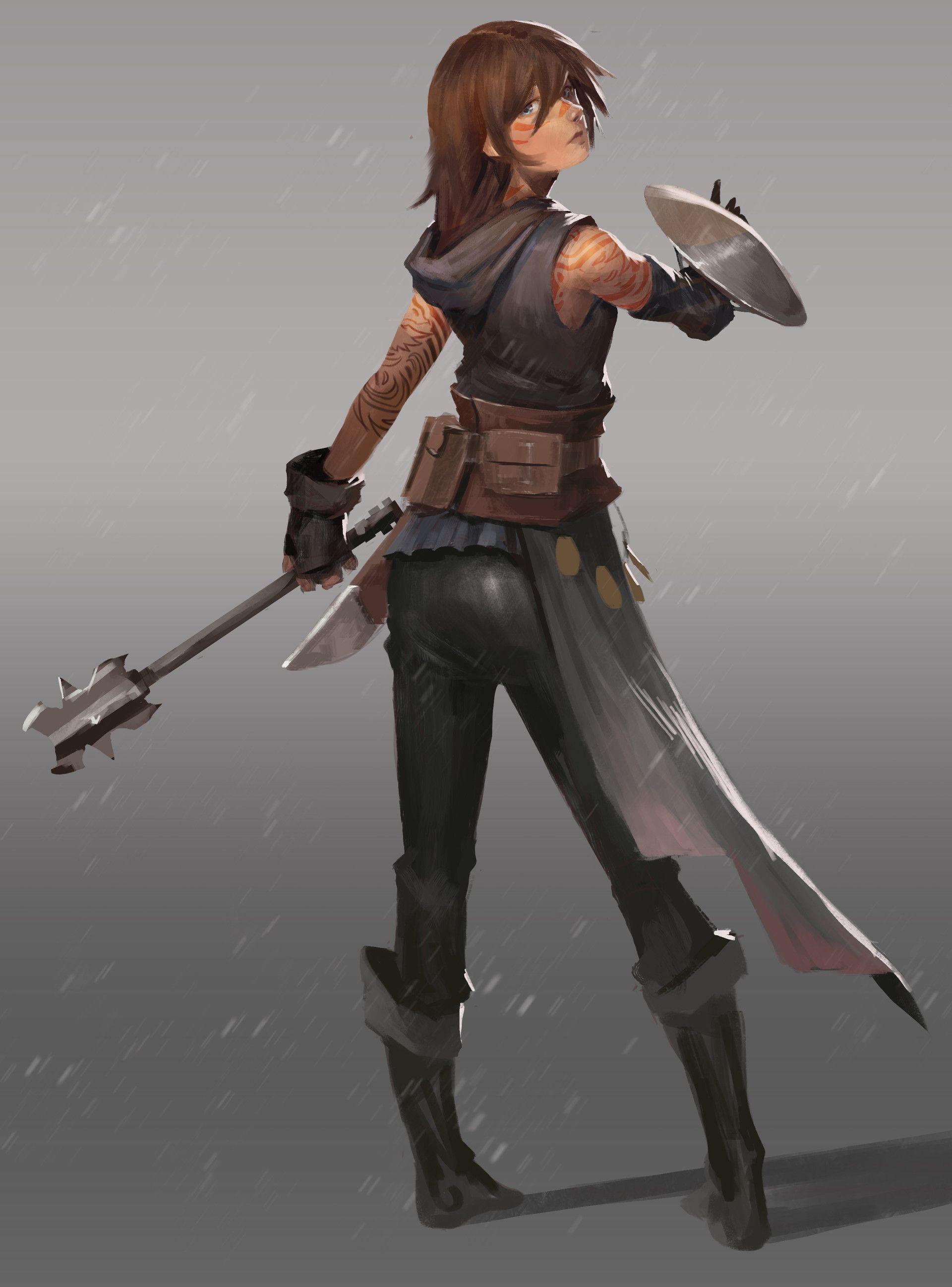 Noob Mage By Joshcorpuz85 Female Druid Witch Sorceress: ArtStation - Noob Adventurers, Josh Corpuz