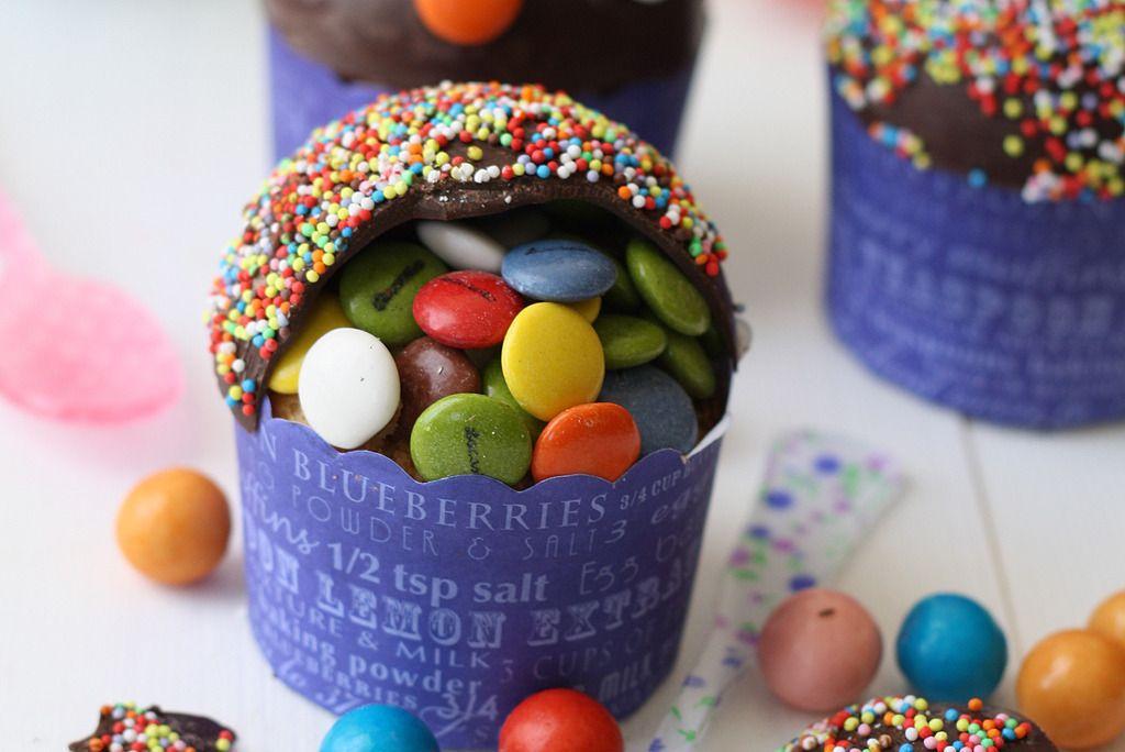 Gojee - Piñata Cupcakes by La receta de la felicidad