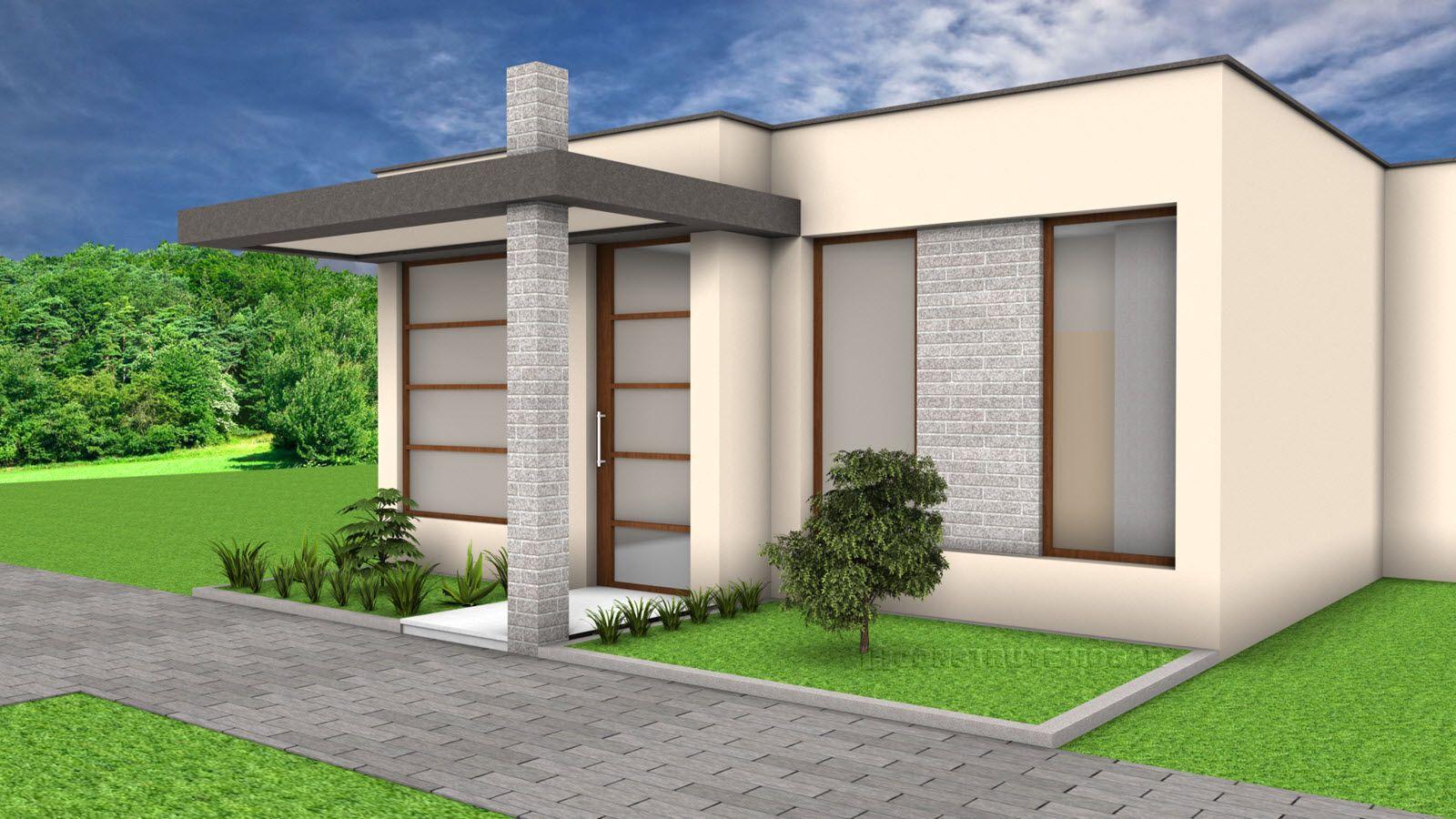 Idea De Diseno Casa Pequena Un Piso Casas Modernas Pequenas Marko - Diseo-de-fachadas-de-casas