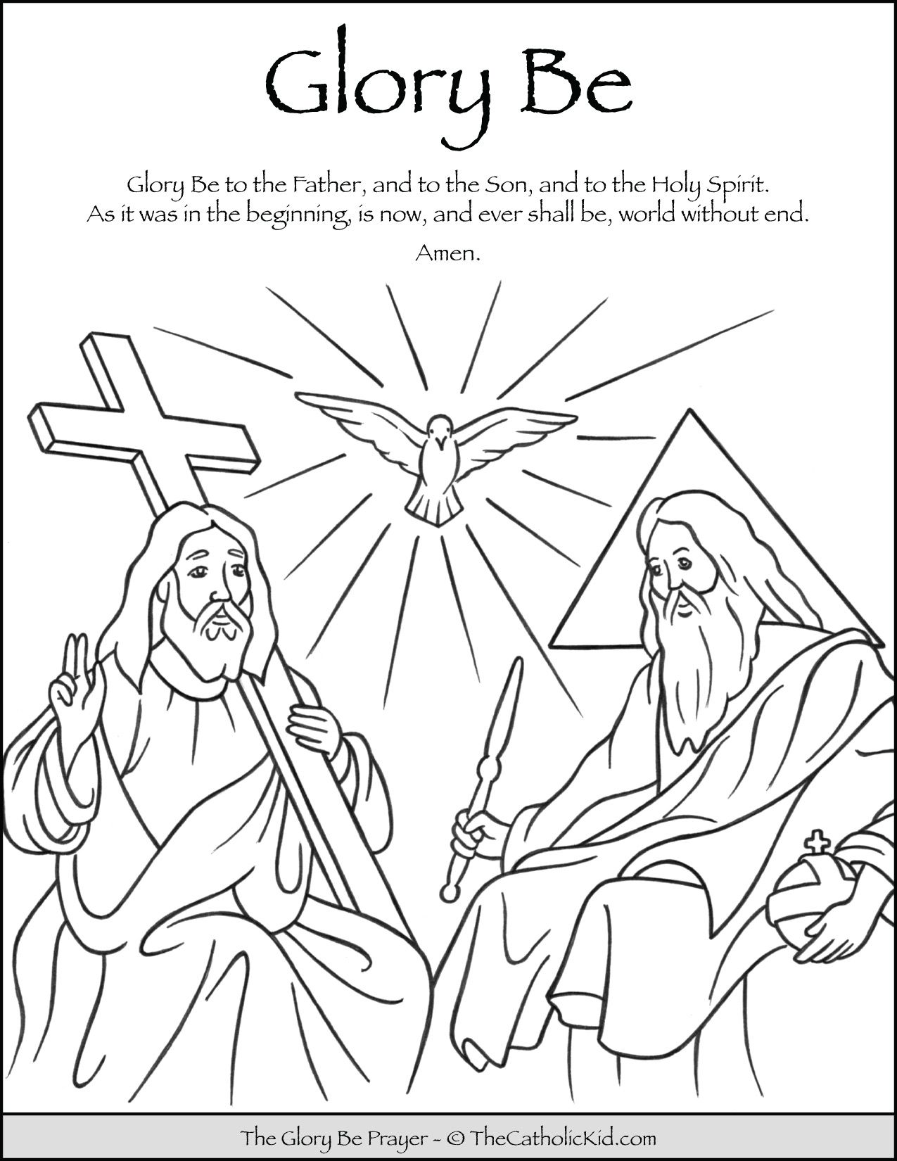 Glory Be Prayer Coloring Page Thecatholickid Com Glory Be Prayer Catholic Coloring Prayers For Children