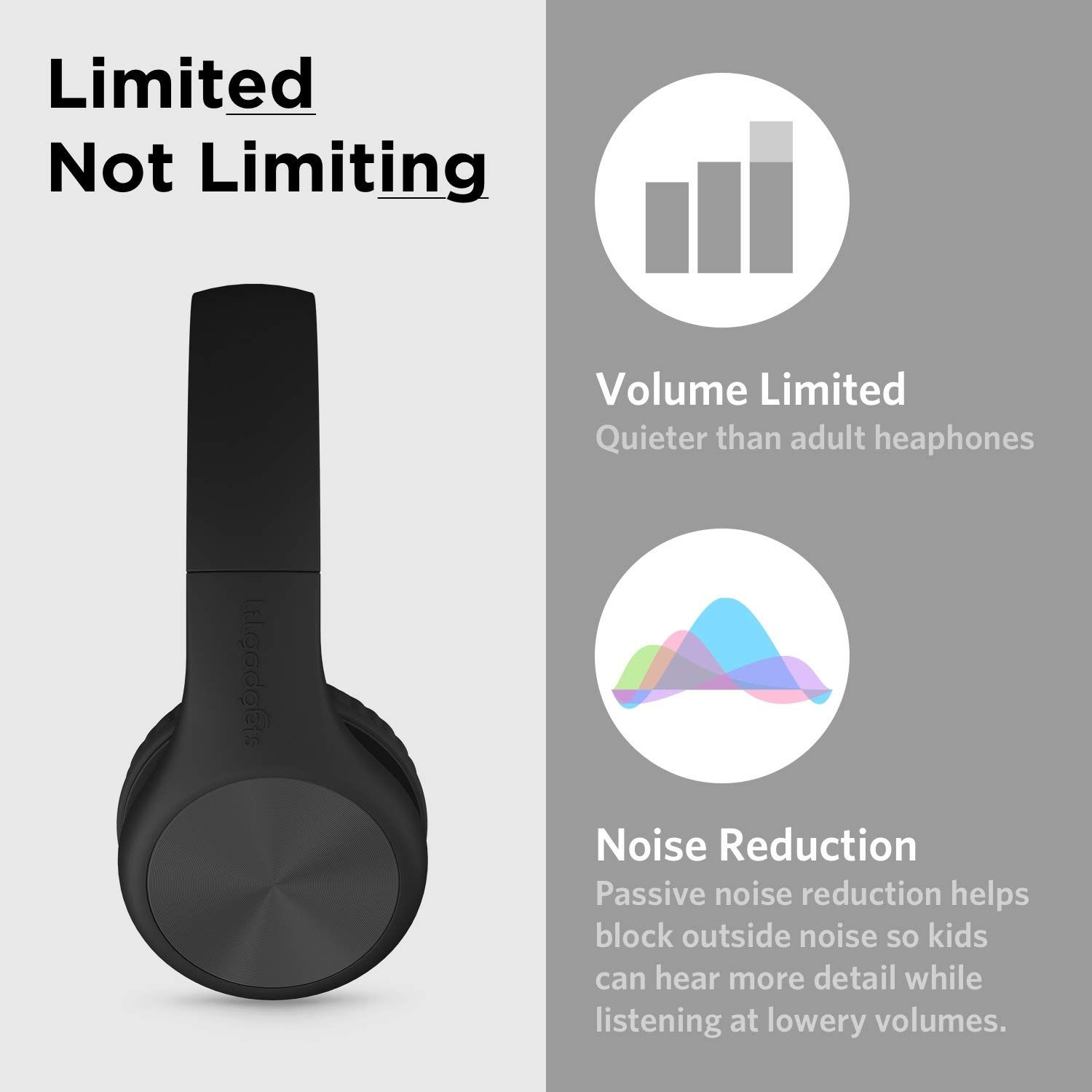 19f443d2eeb LilGadgets Connect Pro Premium Volume Limited Wired Headphones with  SharePort for Children/Kids (Black),#Premium, #Volume, #Limited, #LilGadgets