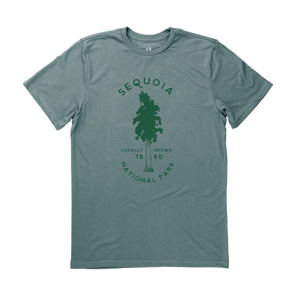 California Map Sequoia National Park%0A Men u    s Sequoia National Park Tee