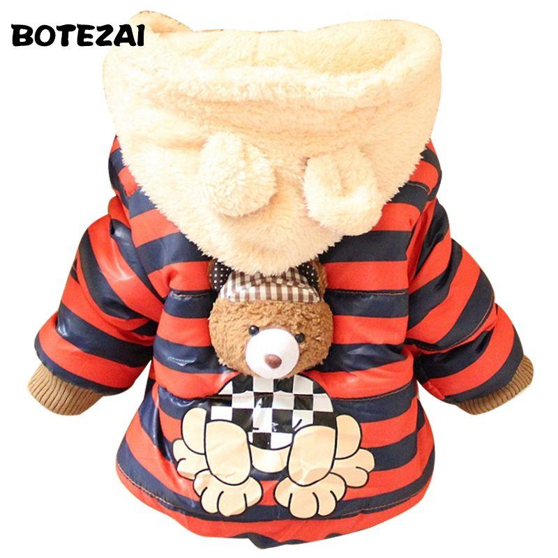 92cbfb899 New Cartoon Bear Baby Boys Jacket Kids Winter Keeping Warm Cotton ...