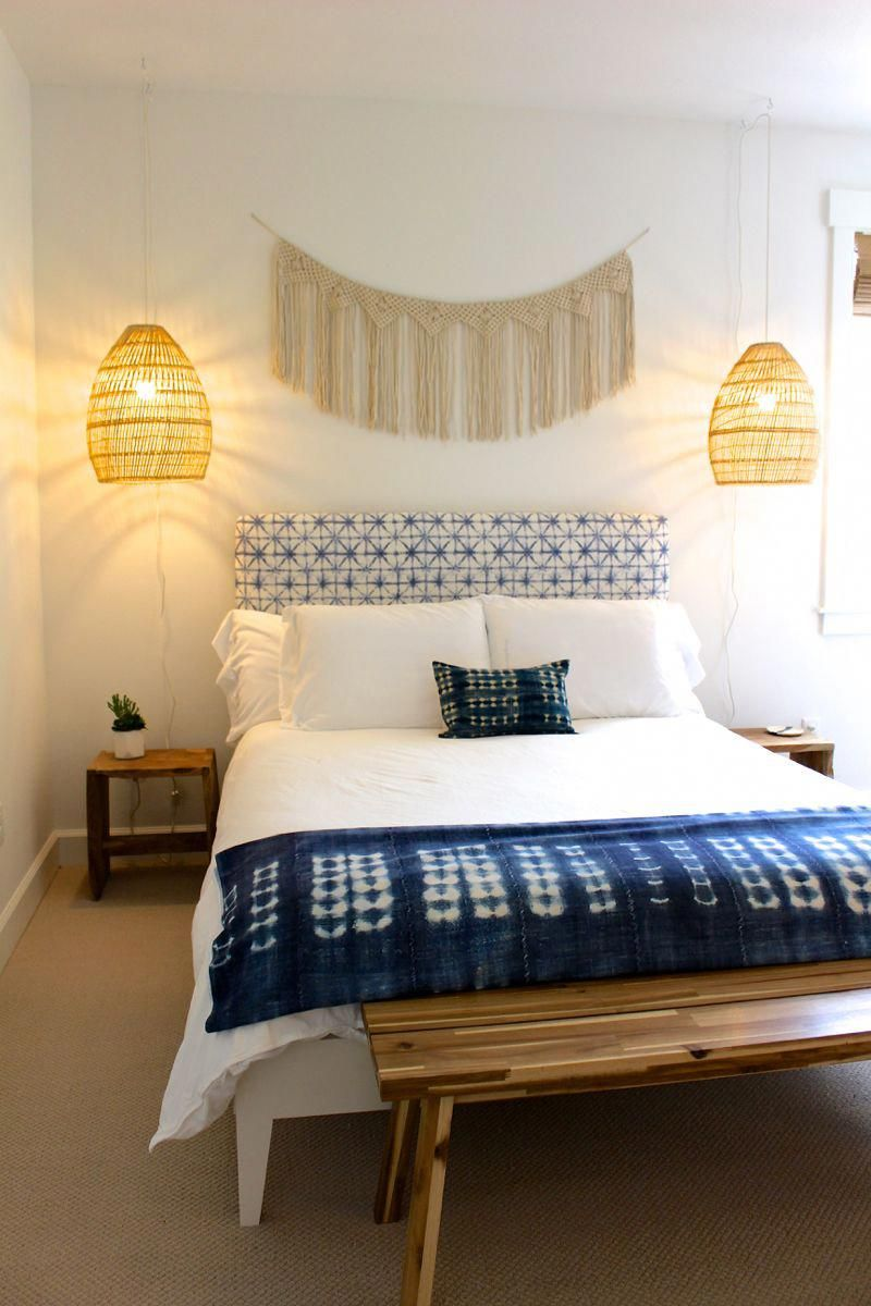 bohemian beach bedroom airbnb in lincoln city, oregon #beachhousestyleinteriors | beach house
