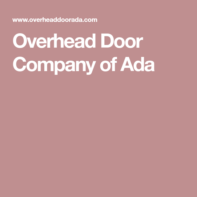 Overhead Door Company Of Ada
