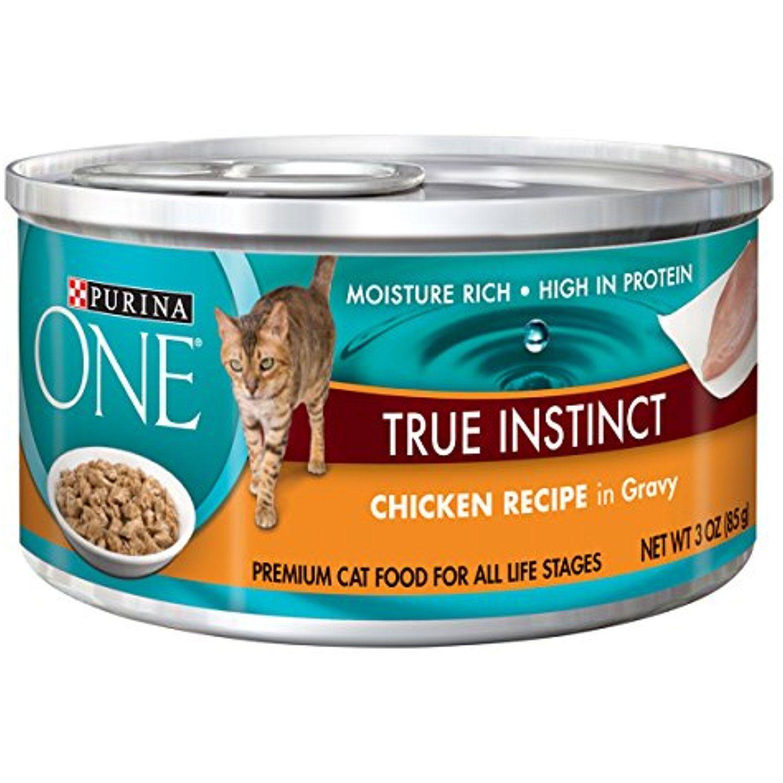 Purina ONE True Instinct In Gravy Wet Cat Food 24 3 oz Cans