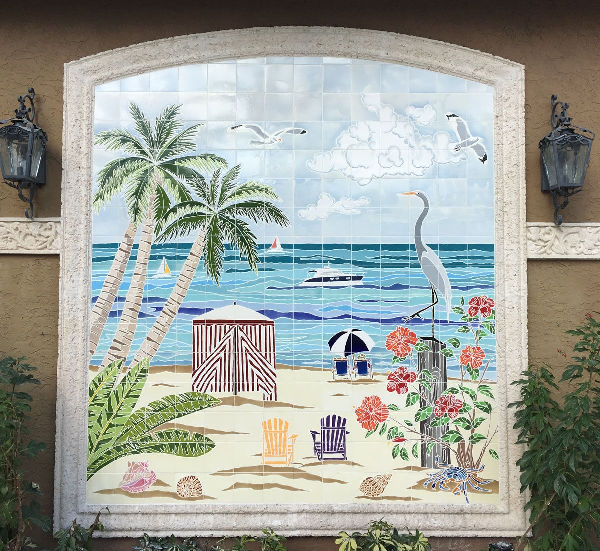 How darling is this custom hand painted tile mural i want mine how darling is this custom hand painted tile mural i want mine installed by the dailygadgetfo Image collections