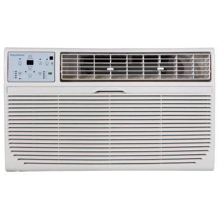 Keystone 12 000 Btu 230v Through The Wall Air Conditioner With 10 600 Btu Supplemental Heat Capability Walmart Com Wall Air Conditioner Air Conditioner With Heater Air Conditioner Btu