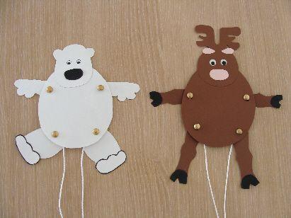 Gut gemocht Pantins polaires  ours ou renne ? (8-12 ans) | BRICOLAGE  CW06