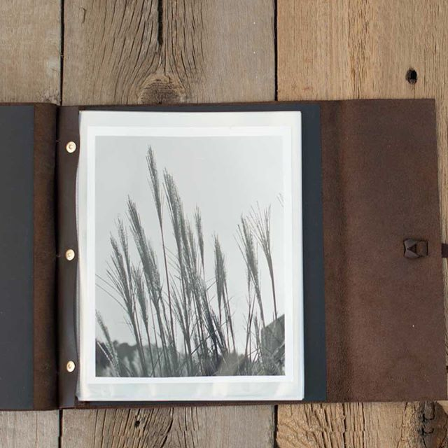 This Leather (post Bound) Portfolio Is Perfect For