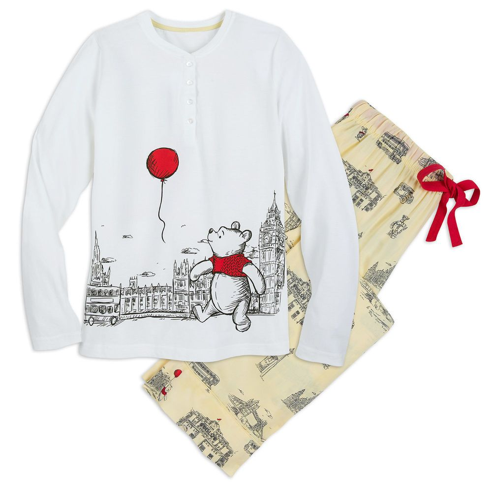 DISNEY Store PAJAMA SET for Women CHRISTOPHER ROBIN WINNIE the POOH  PickSize NWT  89fa45d2c1