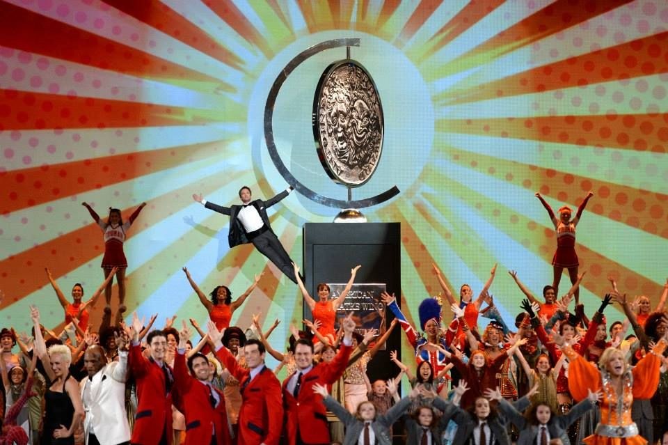 Neil Patrick Harris and company at the end of the Tony Awards opening number