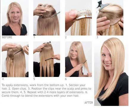 So Easy To Apply Instant Beauty Clip In Hair Extensions With