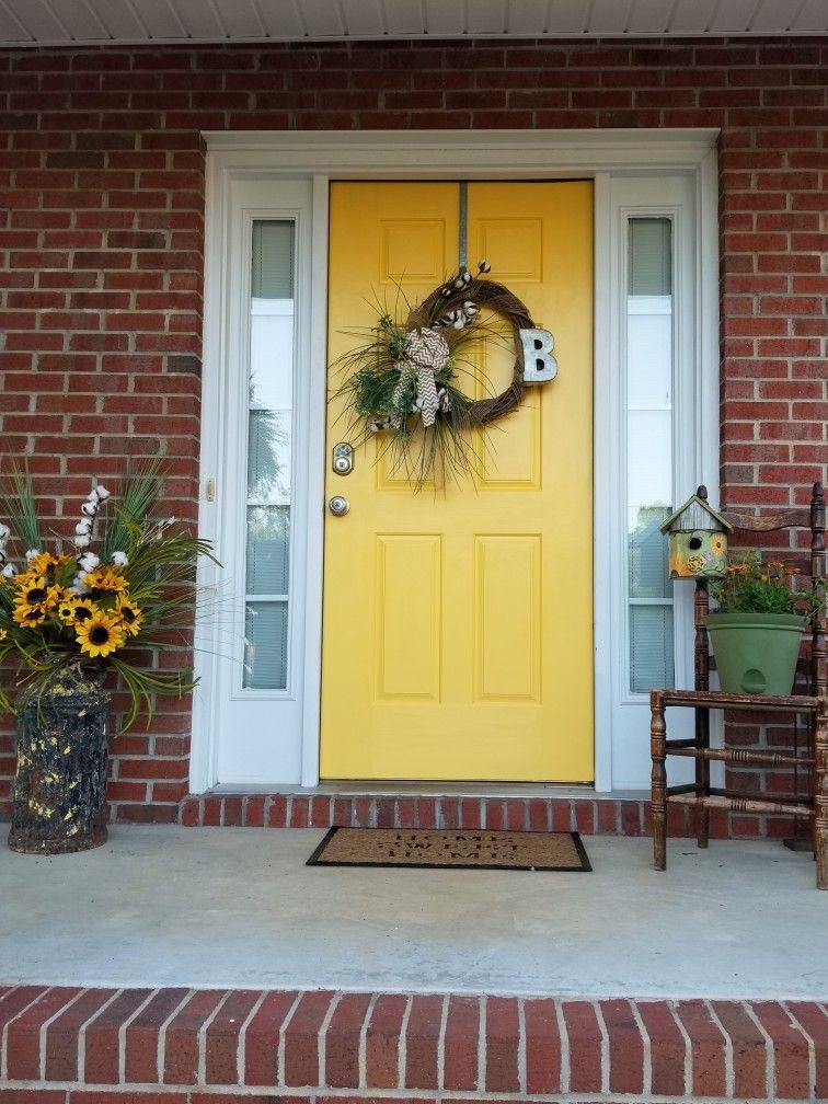 Love My New Yellow Front Door Behr Honey Locust Yellow Front