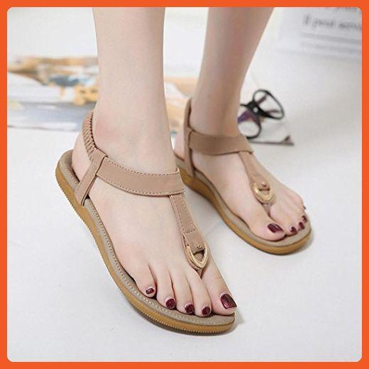4b562cc6591ed Hemlock Women Bohemia Flat Sandal Shoes Size 4.5-Size 10 Sandals (US ...