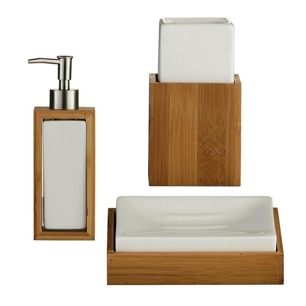 37 Perfect Wooden Bathroom Accessories Set | Wooden bathroom ...