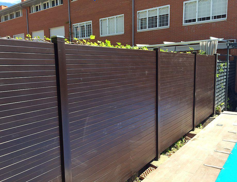vallas de material compuesto de madera y pvc especiales para vallados de diseo - Vallas Madera Jardin