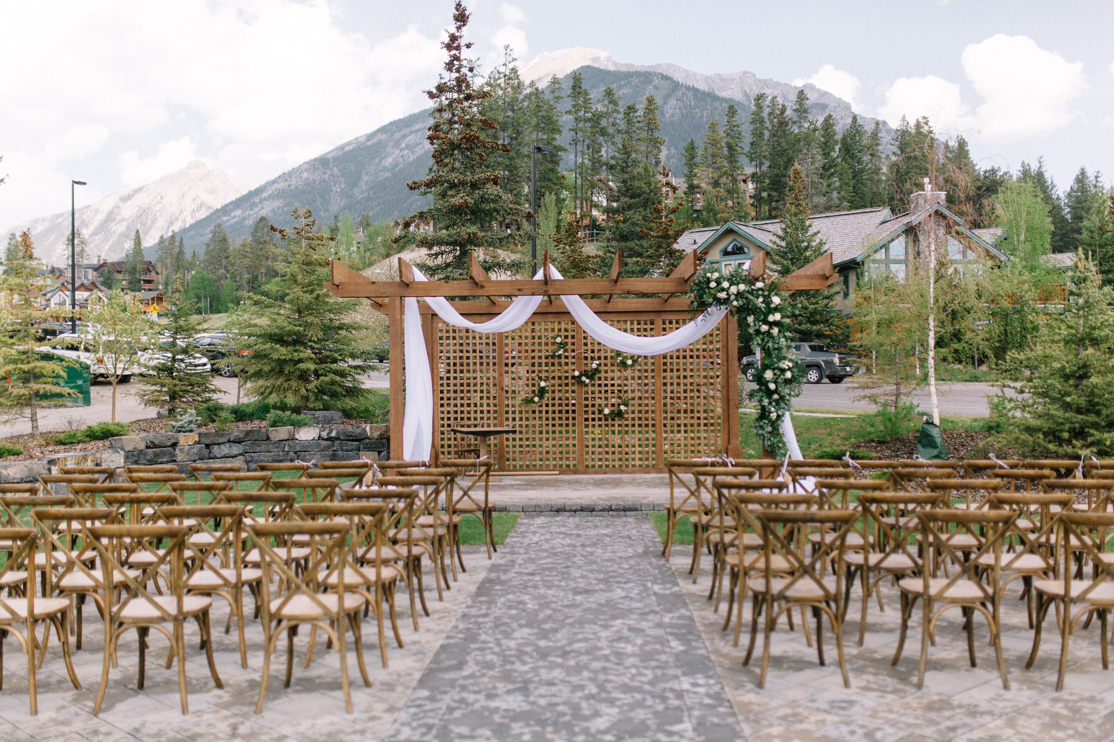 Our Team Designed The Pergola Flowers For This Outdoor Canmore