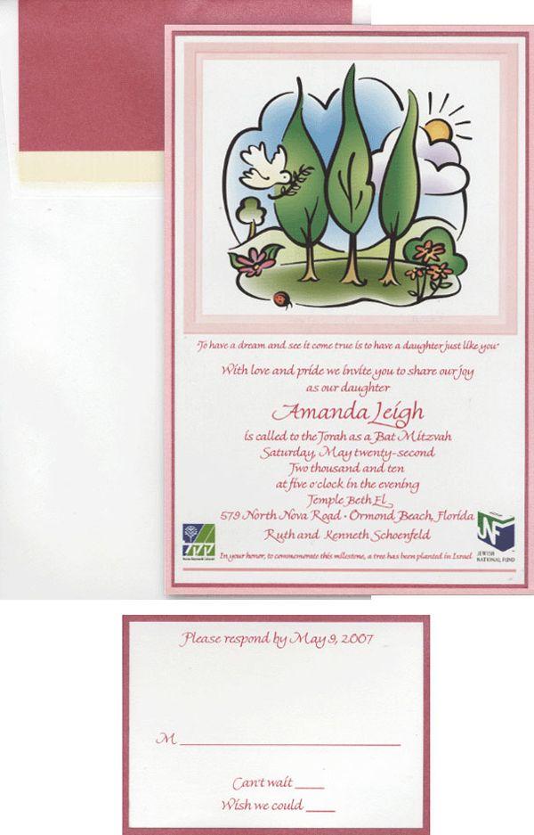 Rejoice 1907D Simcha Invitations Pinterest Bat mitzvah