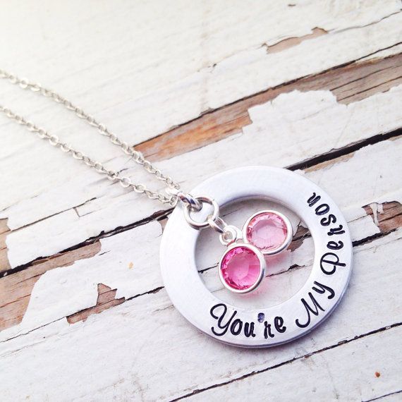 You're my person necklace hand stamped love by faeriekissageStudio