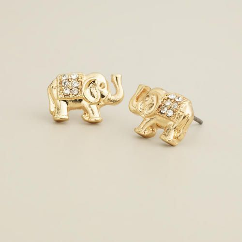 One Of My Favorite Discoveries At Worldmarket Gold Elephant Stud Earrings