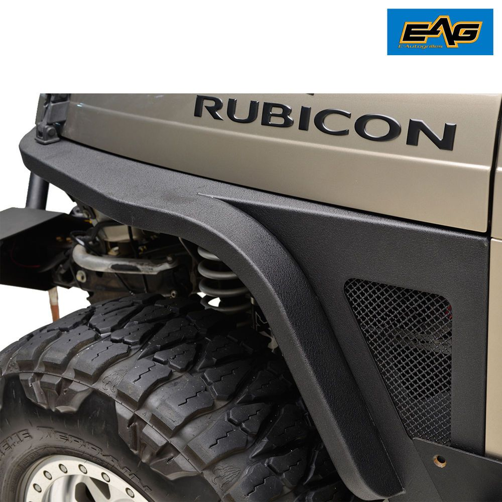 Eag Front Fender Flare With Led Eagle Lights For 97 06 Jeep