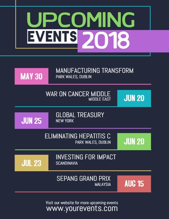 Modern Upcoming Event Calendar Posterflyer Template Event Flyer