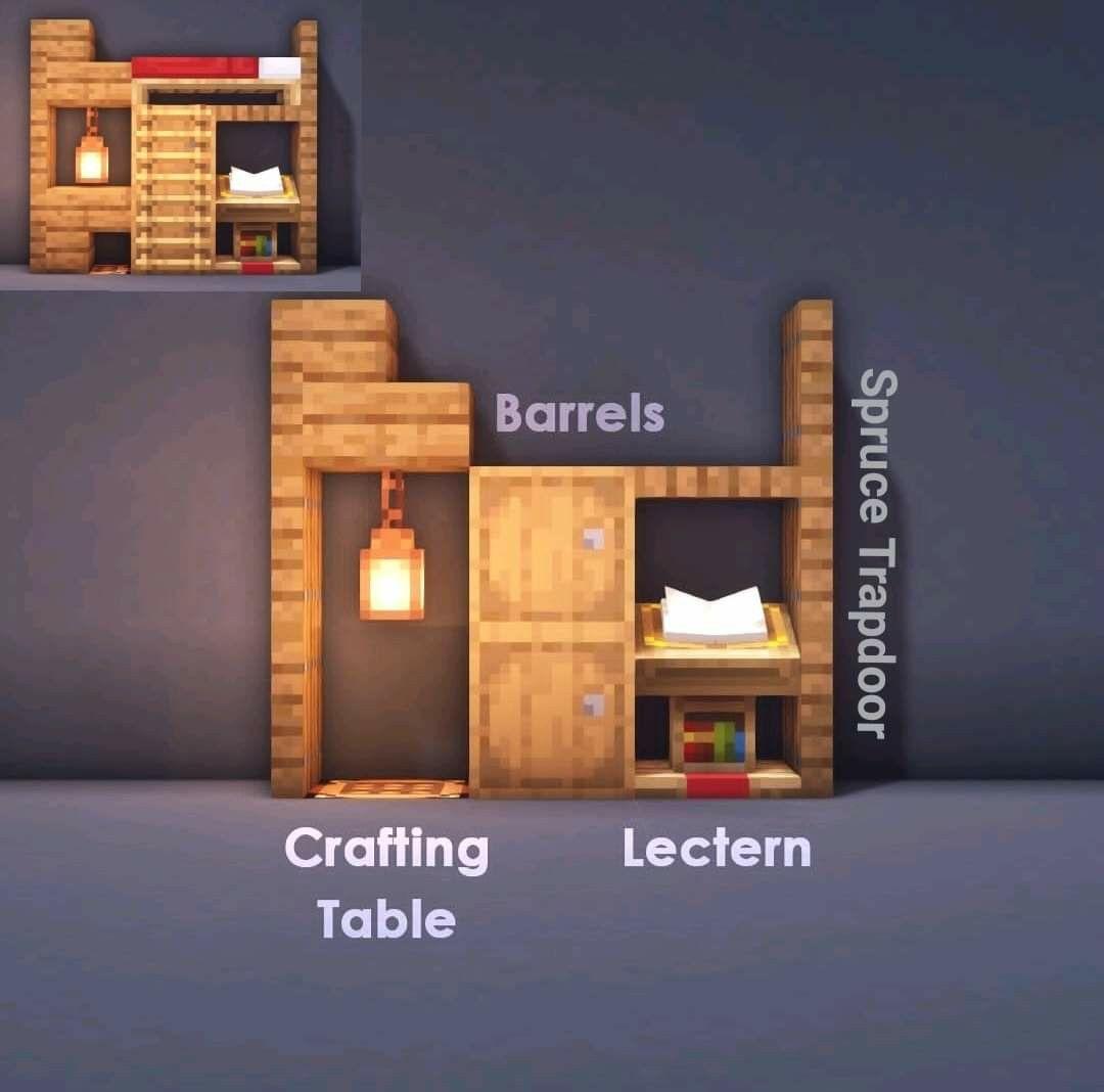 Tiny Bedroom Minecraft Room Minecraft Furniture Minecraft Crafts Small bedroom ideas minecraft