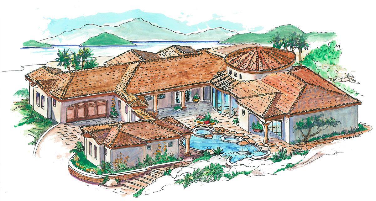 1352 1 2 Jpg 1200 641 Spanish Style Homes Mediterranean Style House Plans Mediterranean House Plans