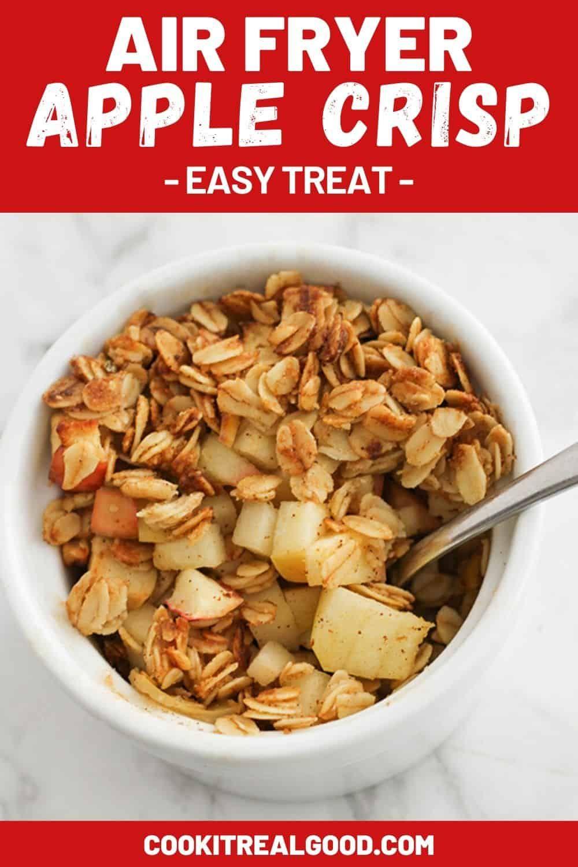 Individual Air Fryer Apple Crisps are a super easy dessert