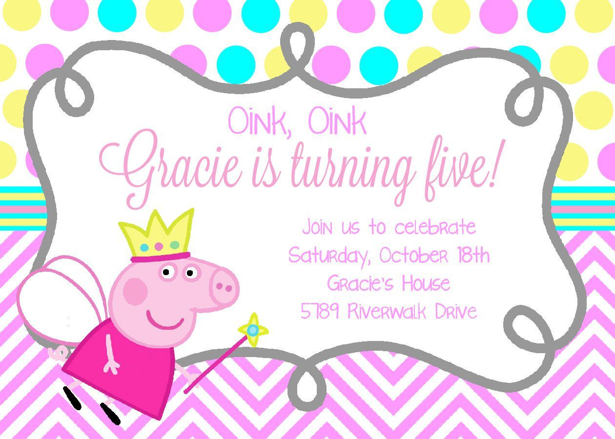 Peppa Pig Birthday Invitation/DIY/Digital Invitation by ...