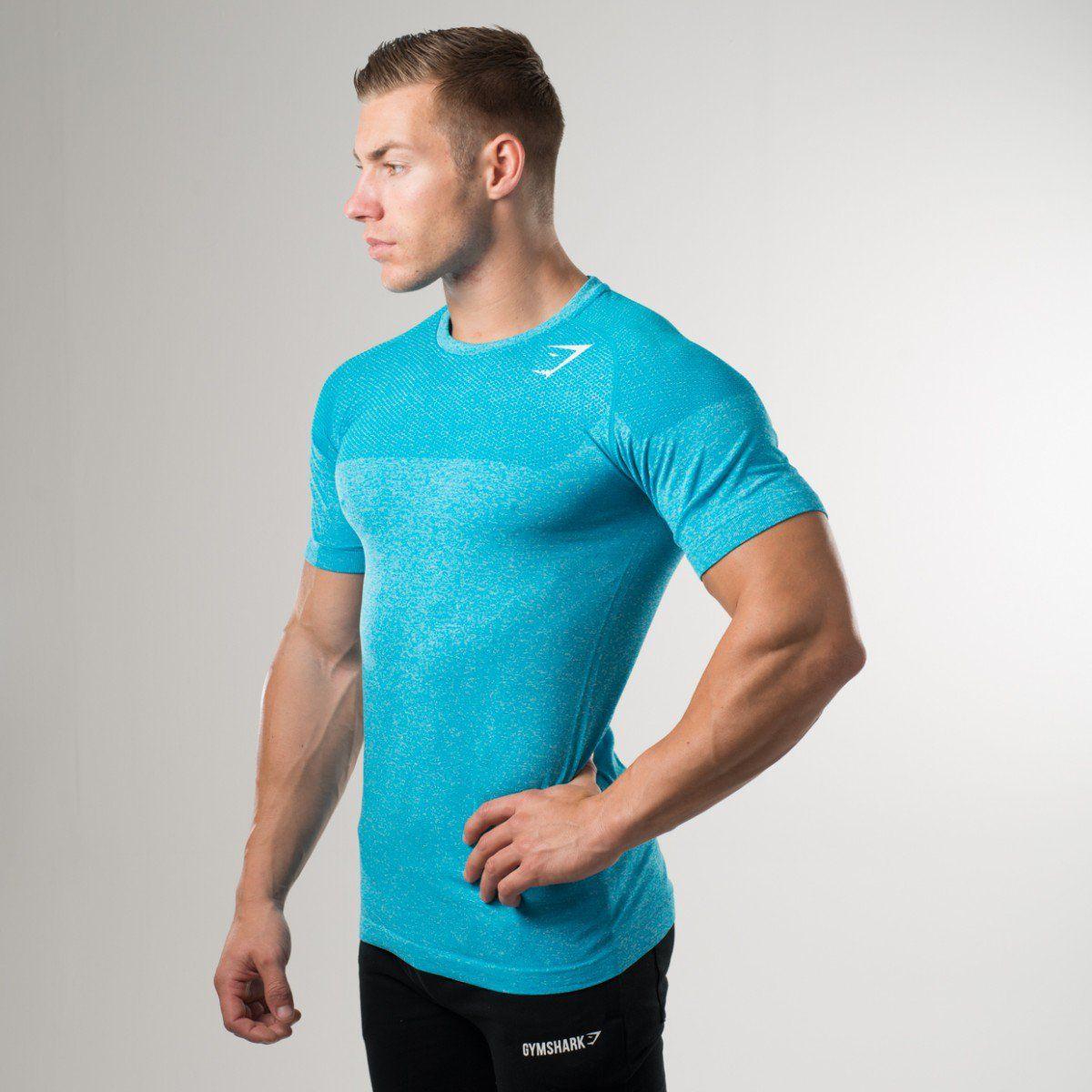 90db5ac5f8b5d Gymshark Phantom Seamless T-Shirt - Blue - New Releases - Featured - Mens