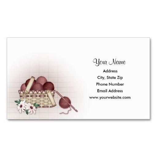Yarn Basket Crochet Business Cards Zazzle Com Craft Business Cards Crochet Business Yarn Basket