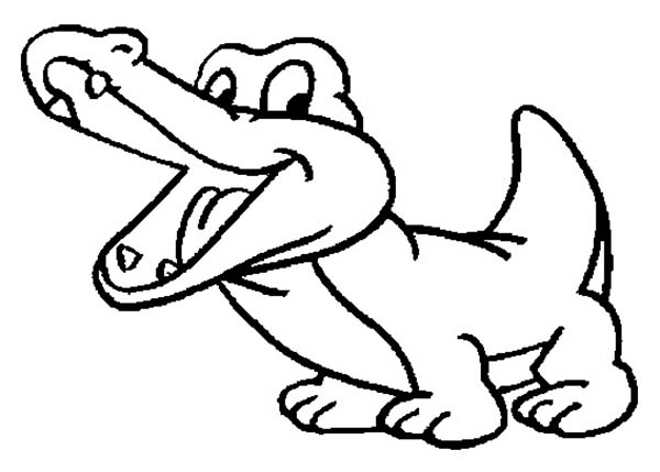 Drawing Baby Crocodile Coloring Page Coloring Sun Animal Coloring Pages Cartoon Coloring Pages Turtle Coloring Pages
