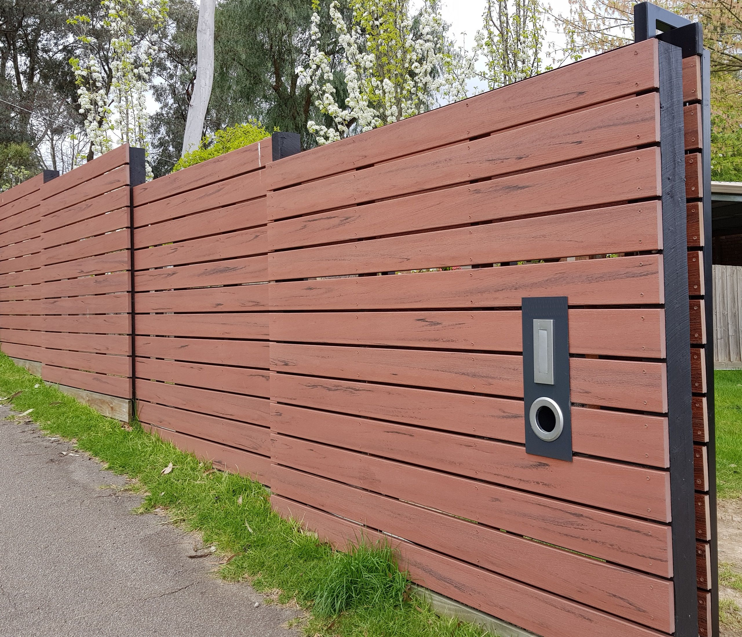 Jarrah no see through screen ModWood Screen Fence