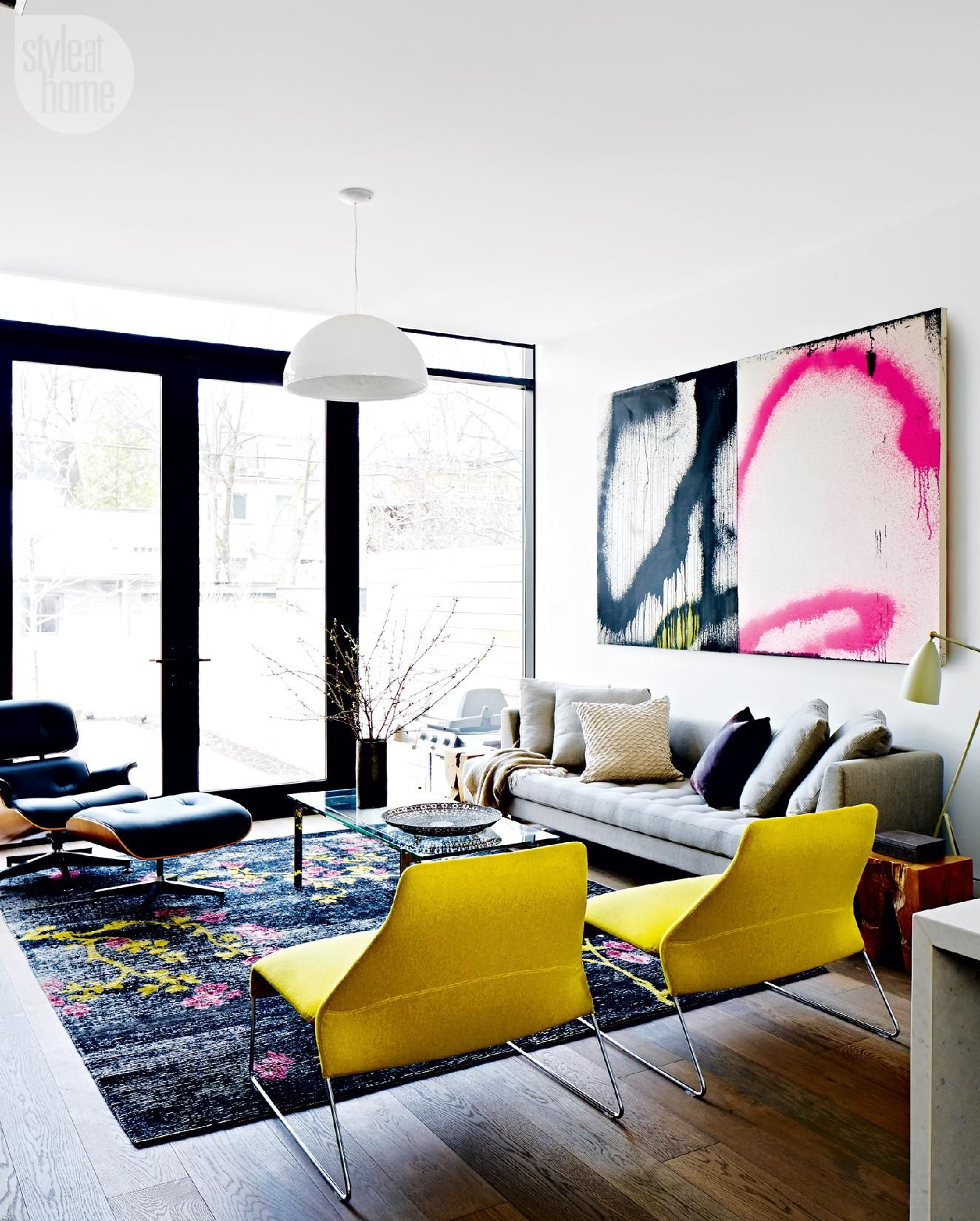 House tour: Dapper bachelor pad | House tours, House and Living rooms