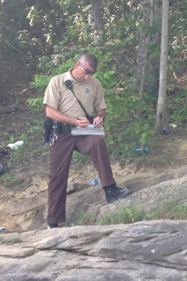 My NRP Sgt  White writing yet another littler ticket on